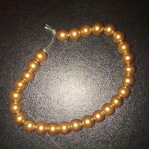 handmade bronze pearl bracelet/anklet